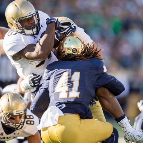 Notre Dame's defense vs Navy Podcast Recap
