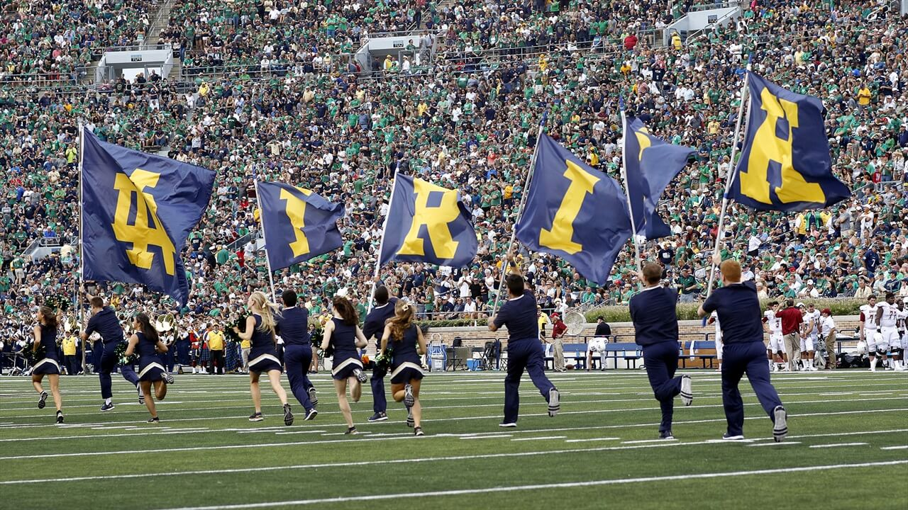 Notre Dame Stadium on the Field