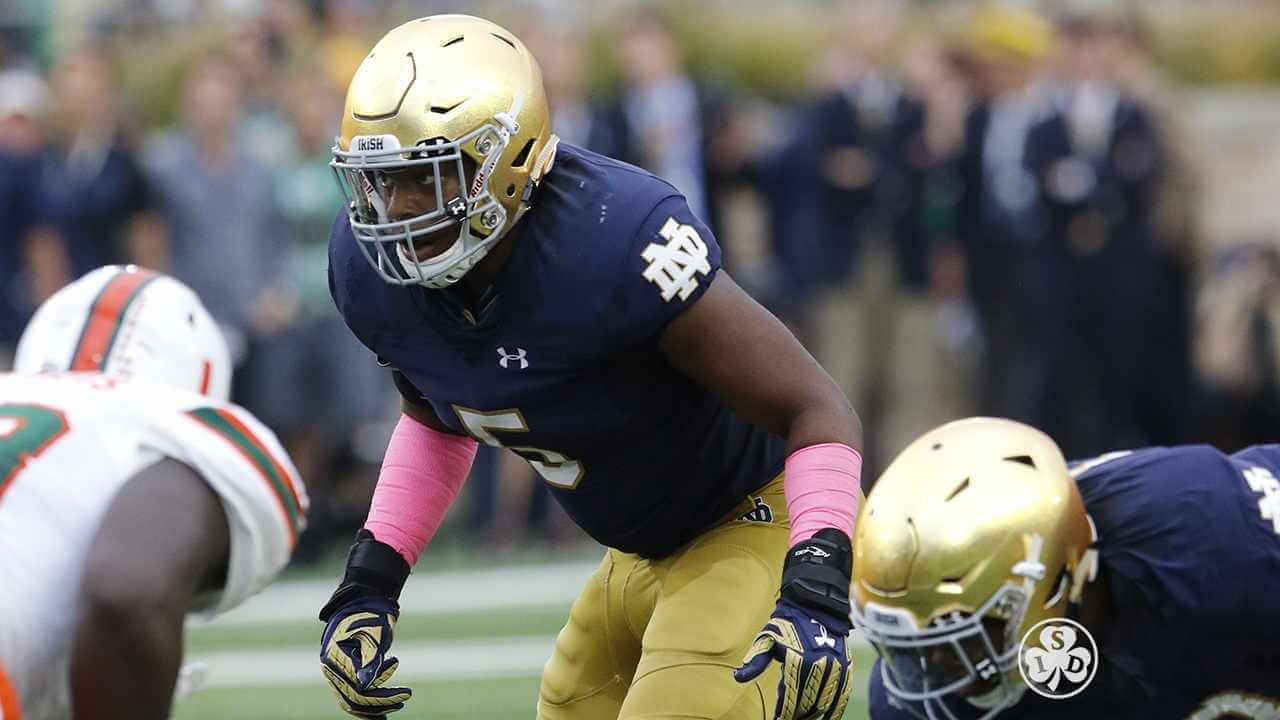 Nyles Morgan is a Notre Dame Linebacker