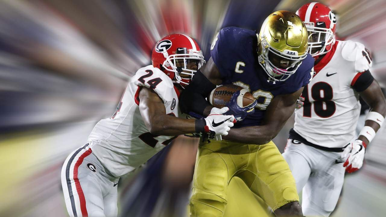 Josh Adams, Running Back for Notre Dame (vs Georgia)