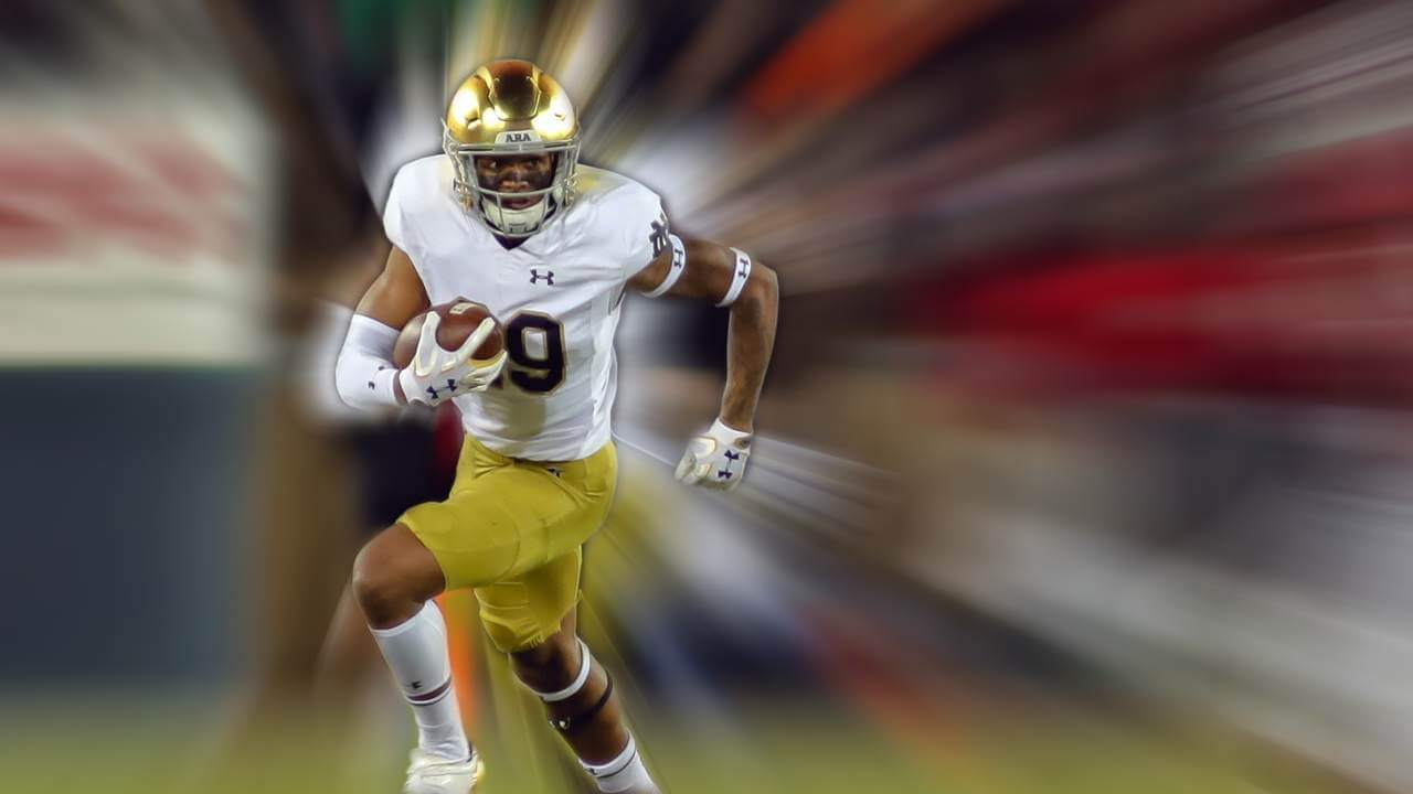 Kevin Stepherson Notre Dame at Stanford