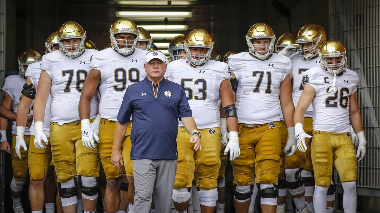 Notre Dame and Brian Kelly in 2017